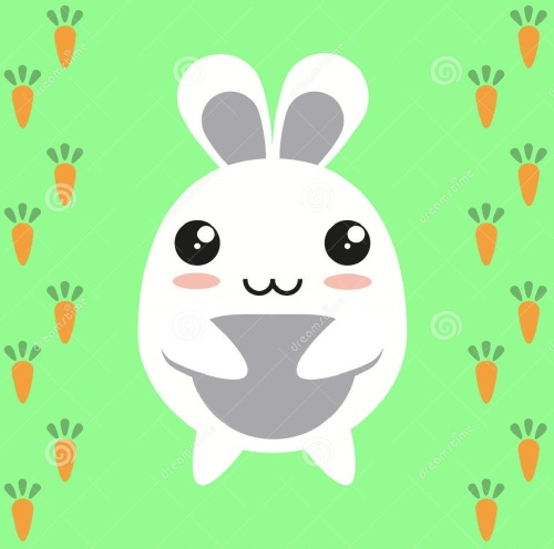 bunny-cartoon-character-rabbit-japanese-carrots-34519381